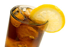 Cola Ice and Lemon Stock Image