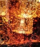 Cola with Ice. Macro shoot Stock Photos