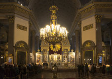 Cola a la madre de Kazán de dios Catedral de Kazan en St Petersburg fotos de archivo libres de regalías