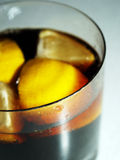 COLA WITH LEMON. Soft beverage in a glass Stock Photo
