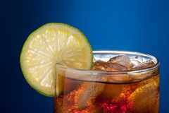 Cola with lime Royalty Free Stock Image