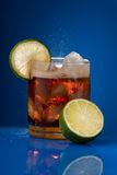 Cola with lime Stock Images