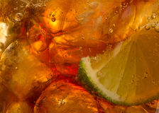 Cola with lime and Ice Royalty Free Stock Photo