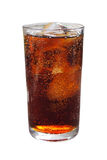 Cola med is i exponeringsglas royaltyfria foton