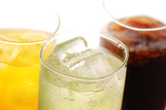 Cola, orane and lime drink Royalty Free Stock Photo