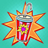 Cola paper cup straw fast food Royalty Free Stock Photos