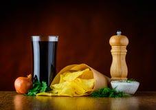 Cola, Patata-chip ed immersione Fotografia Stock Libera da Diritti