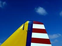 Cola plana de la vendimia en el airshow Fotografía de archivo libre de regalías