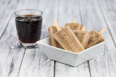 Cola Popsicles selective focus Stock Images