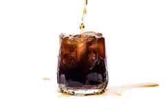cola skära i tärningar glass is Royaltyfri Fotografi