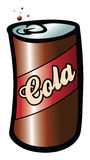 Cola soda. Cartoon vector illustration of a cola soda Stock Photos