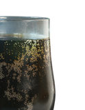 Cola Soft Drink in Glass. Over black background Stock Photography