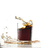 Cola splash Royalty Free Stock Images