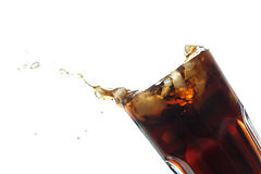 Cola splash Stock Image