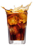 Cola splash Stock Photo