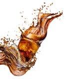 Cola splash isolated Stock Photo