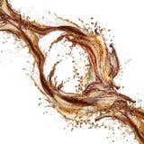 Cola splash isolated Stock Images