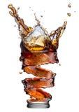 Cola splash isolated on white Stock Photo