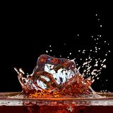 Cola splash Royalty Free Stock Images