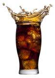 Cola splashing Royalty Free Stock Images