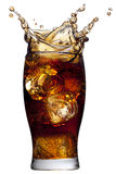 Cola splashing Royalty Free Stock Photo