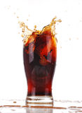 Cola splashing Royalty Free Stock Images