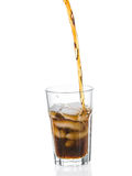 Cola splashing from glass Royalty Free Stock Images
