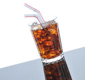 Cola and Straws Royalty Free Stock Photography