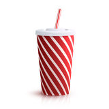 Cola Striped Glass Royalty Free Stock Images
