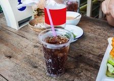 Cola in vetro di plastica Fotografia Stock Libera da Diritti