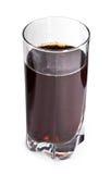 Cola in vetro su bianco immagini stock libere da diritti