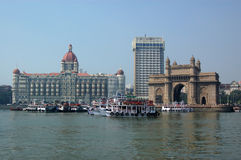 Colaba, Mumbai from the sea Stock Photo