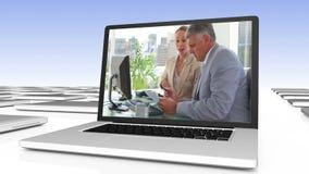 Colaboração bem sucedida do negócio video estoque