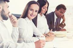 Colaboração da equipe do negócio Imagem de Stock