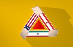 Colaboração dos países de America do Norte Imagem de Stock Royalty Free