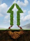 Colaboração para o crescimento ilustração do vetor