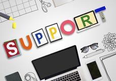 Colaboração Team Advice Help Aid Concept do apoio ilustração do vetor