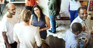 Colaboração Team Concept dos colegas do restaurante do partido imagens de stock royalty free