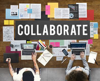 Colabora el concepto de los socios de la cooperación del acuerdo imágenes de archivo libres de regalías