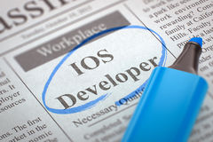 Colaborador do IOS de Job Opening 3d Imagens de Stock Royalty Free