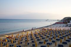 Colabria Strand Italien royalty free stock photos