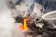 Colada caliente del acero imagen de archivo libre de regalías