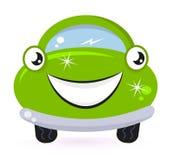 Colada de coche verde de Eco Fotos de archivo