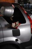 Colada de un compartimiento del tanque del dinero Imágenes de archivo libres de regalías