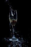 Colada del vino blanco Imágenes de archivo libres de regalías