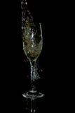 Colada del vino blanco Foto de archivo