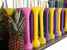 Coladas van Pina in lange glazen stock foto's