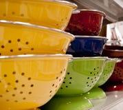 Coladores coloreados multi Fotografía de archivo libre de regalías