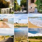 Colage Italië van de reis Stock Fotografie