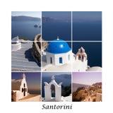 Colagem 01 de Santorini Fotos de Stock Royalty Free